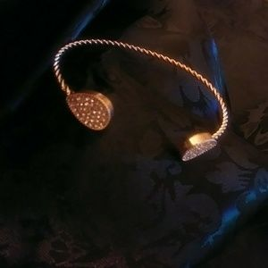 Bracelet with Pave crystal rhinestones ends
